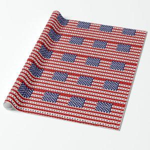 Cat Flag Wrapping Paper