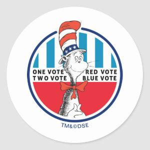 Cat in the Hat | One Vote, Two Vote Classic Round Sticker