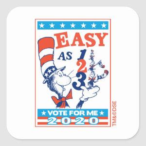 Cat in the Hat | Vote for Me 2020 Square Sticker