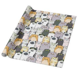 Cats and More Cats Wrapping Paper