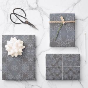 Chalkboard Lace - Set of 3 Wrapping Paper Sheets
