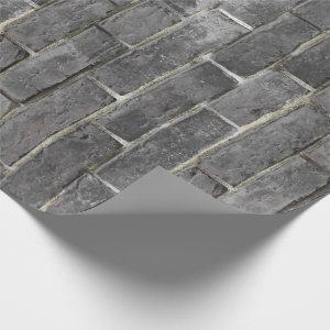 Charcoal Brick Pattern Wrapping Paper