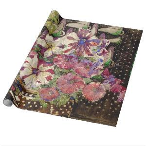 Charles Rennie Mackintosh - Petunias Wrapping Paper
