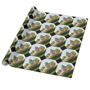 Charleston SC Pineapple Fountain, Waterfront Park Wrapping Paper