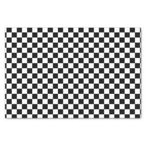 Checkerboard pattern black and white tissue paper