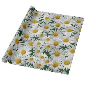 Cheerful, Bright Daisy Wrapping Paper