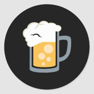 Cheers Beer Bartender Emoji Emoticon Cute Funny T Classic Round Sticker