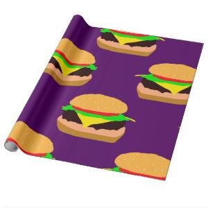 Cheeseburger Pattern Wrapping Paper