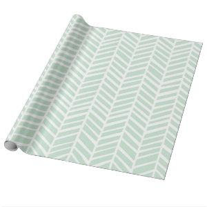 Chevron Wrapping Paper - Mint