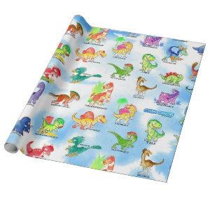 Chibidinos Watercolors Summer 2018 Wrapping Paper