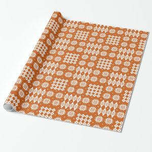 Chic Giftwrap: Welsh Tapestry Pattern, Brick Red