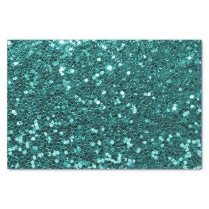 Chic Teal Faux Glitter Tissue Paper