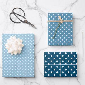 Chic Teal Light Blue White Polka Dots Pattern  Sheets