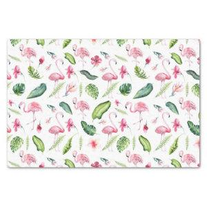Chic Tropical Pink Flamingo Patterned Tissue Paper
