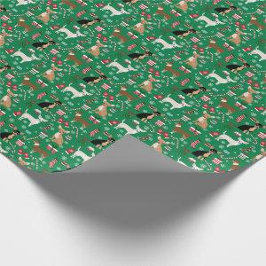Chihuahua Dogs mixed coats christmas Wrapping Paper