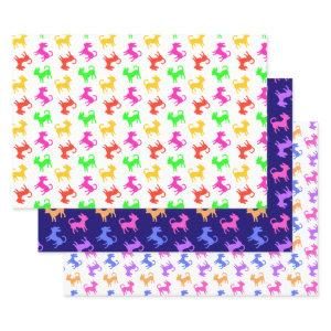 Chihuahua Puppies Fun Multicolored Birthday Party Wrapping Paper Sheets