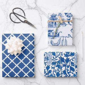 Chinoiserie Chic Bamboo   Blue and White  Sheets