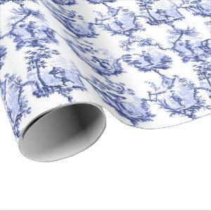 Chinoiserie China Blue Wrapping Paper