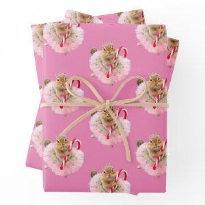 Chipmunk Plum Fairy Wrapping Paper Sheets