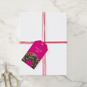 Chocolate Donut with colorful sprinkles Gift Tags