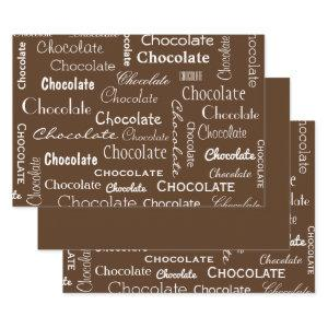 Chocolate Lovers Wrapping Paper Sheets