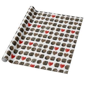 Chocolate pattern wrapping paper