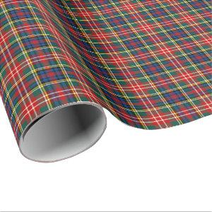 Christie Clan Tartan Wrapping Paper