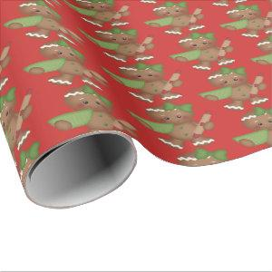 Christmas baking gingerbread Holiday party wrap Wrapping Paper
