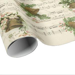 Christmas Bell Music Wrapping Paper
