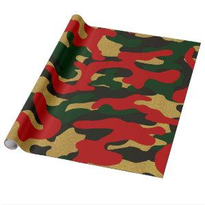 Christmas Camouflage Wrapping Paper