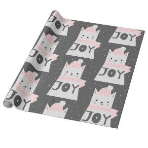 Christmas Cat Pattern Cute Pet Kitty Wrapping Paper