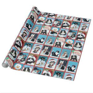 Christmas Cats and Snowmen Wrapping Paper