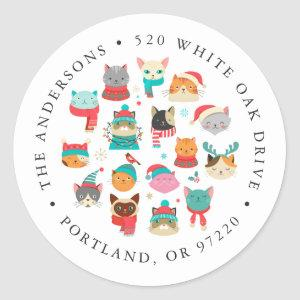 Christmas Cats Holiday Return Address Labels