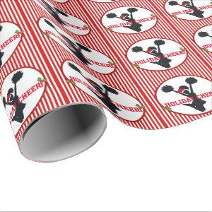 Christmas Cheerleading Holiday Cheer Wrapping Paper