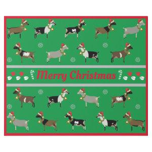 Christmas Dairy Goat Herd Wrapping Paper