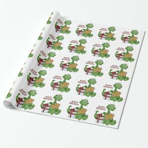 Christmas Dinosaur holiday wrapping paper