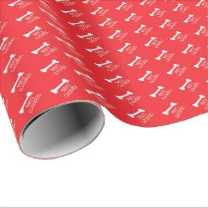 Christmas Dog Bone Gift Wrapping Paper