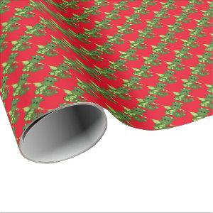 Christmas dragon Holiday wrapping paper