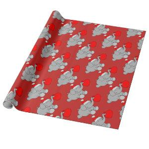 christmas elephant wrapping paper