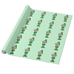 Christmas Elves Wrapping Paper