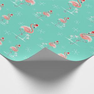 Christmas Flamingo Multi wrapping paper
