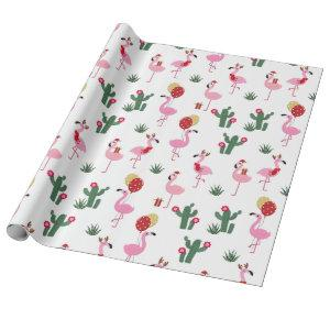 Christmas Flamingo Party | Holidays Wrapping Paper