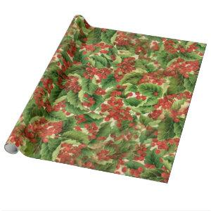 Christmas Floral Holiday wrapping paper