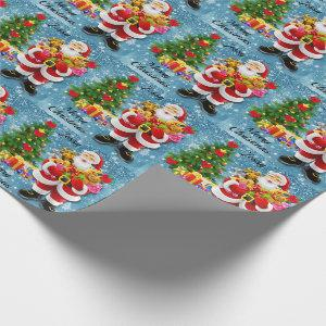 Christmas For Young Child Santa & Gifts Add Name
