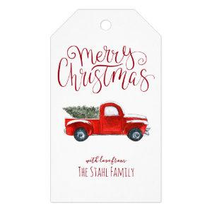 Christmas Gift Tags - Vintage Red Truck