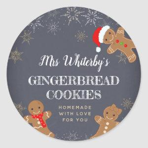Christmas Gingerbread Homemade Cookie Stickers