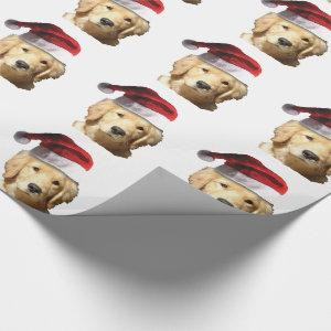 Christmas Golden Retriever Wrapping Paper