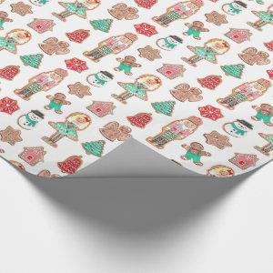 Christmas Holiday Cookies | Glossy Wrapping Paper