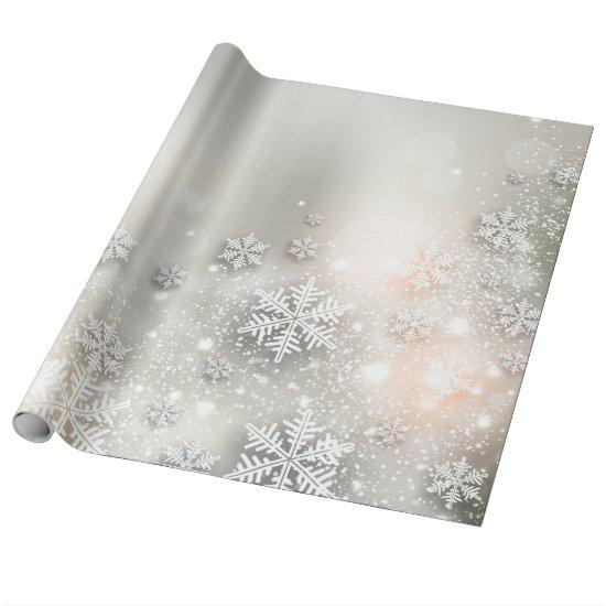 Christmas Holiday Elegant Snowflake Wrapping Paper