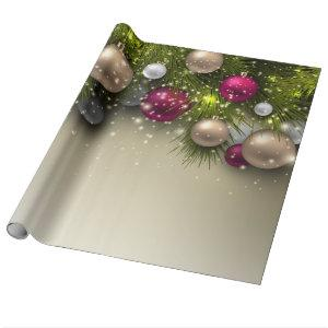 Christmas Holiday Ornaments - Multi Wrapping Paper